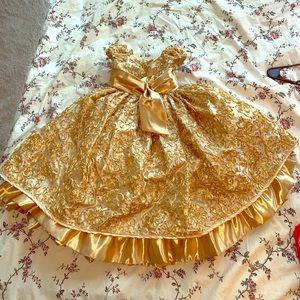 Child gold formal dress